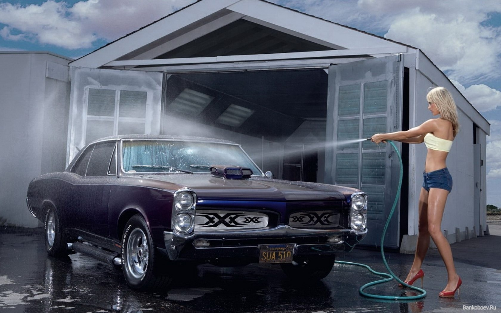 car wash girl wallpaper photo desktop HD Desktop Wallpapers 1680x1050