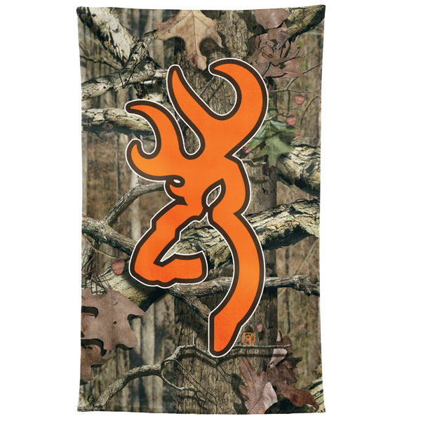 Browning Mossy Oak Camo Hunters Orange Beach Towel 600x600