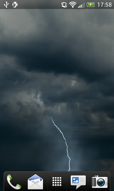 Storm Lightning Live Wallpaper   screenshot 480x800