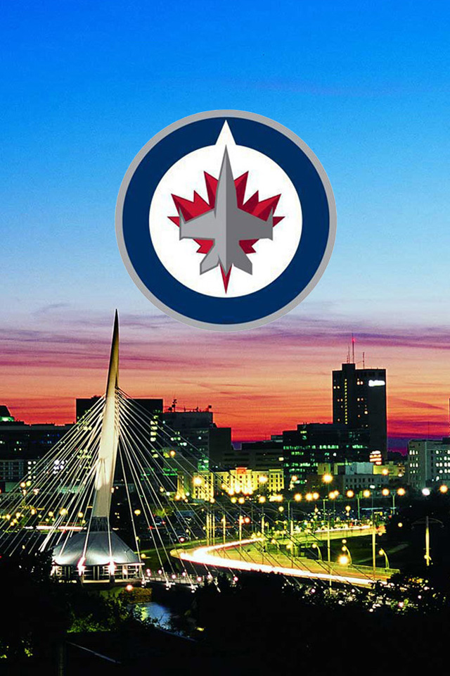Winnipeg Jets Skyline with New Logo wallpaper Digital Citizen 640x960