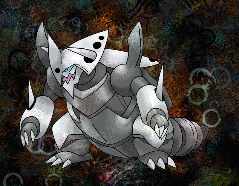 Mega Aggron by Macuarrorro 800x623