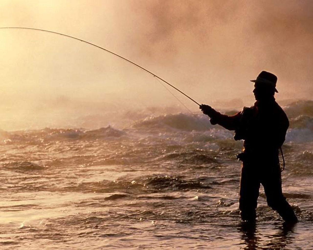 Hunting fishing desktop wallpaper wallpapersafari for Fishing and hunting