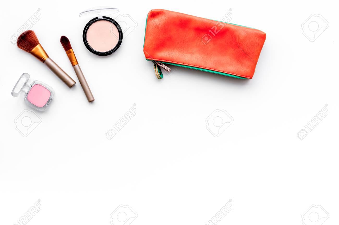 Decorative Cosmetics Background Eyeshadow Rouge Brushes 1300x866