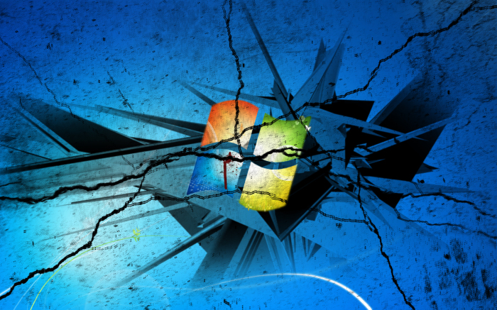 Cracked Windows 7   Cracked Windows 7 Dell Computers Broken Windows 700x437