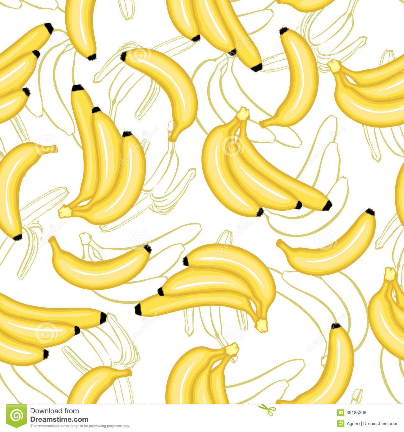 Banana Pattern Wallpaper bananas fruit pattern seamless stock vector 1300x1390
