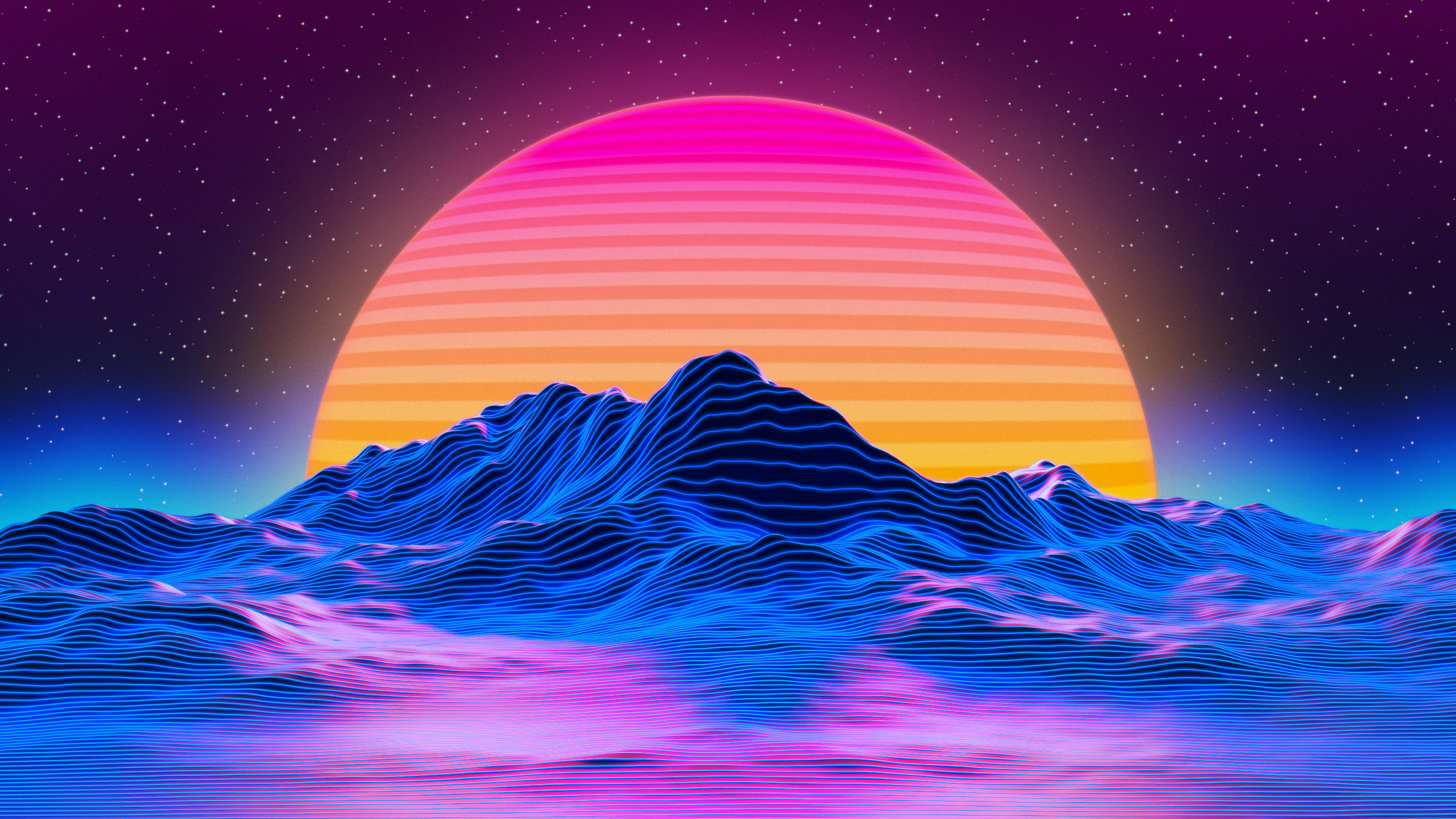 Retro Sunset Wallpapers   Top Retro Sunset Backgrounds 5120x2880