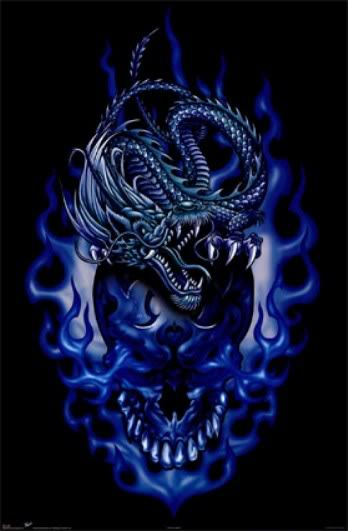 blue flames skull flame - photo #36