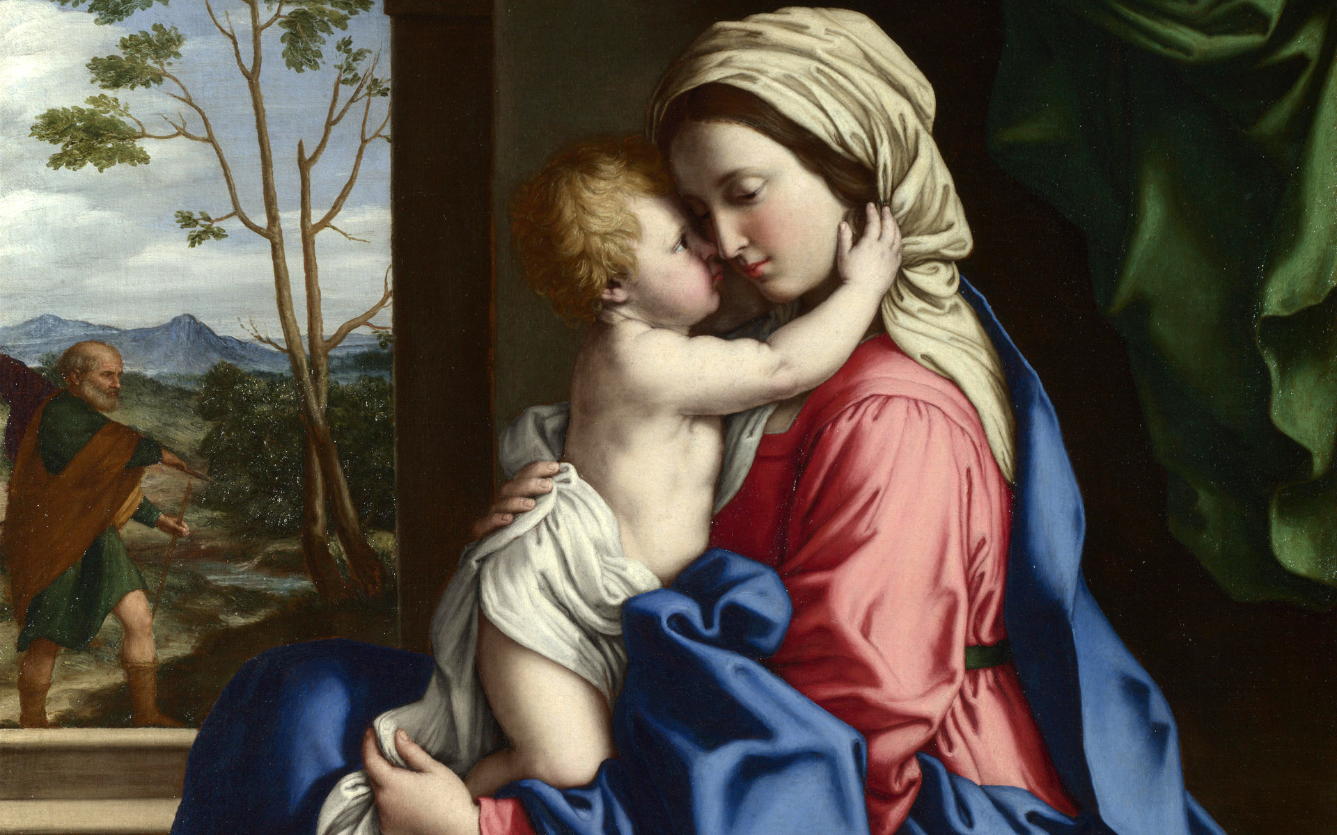 mother mary with baby jesus wallpaper wallpapersafari