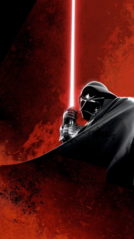 Darth Vader   fan art   minimalism wallpaper Darth vader fan art 844x1500