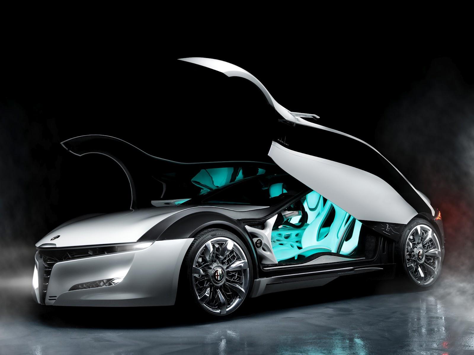 Alfa Romeo Pandion Concept Car Doors Open HD Wallpaper 1600x1200