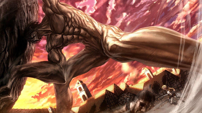 Download Eren Yeager   Attack on Titan wallpaper 1365x768