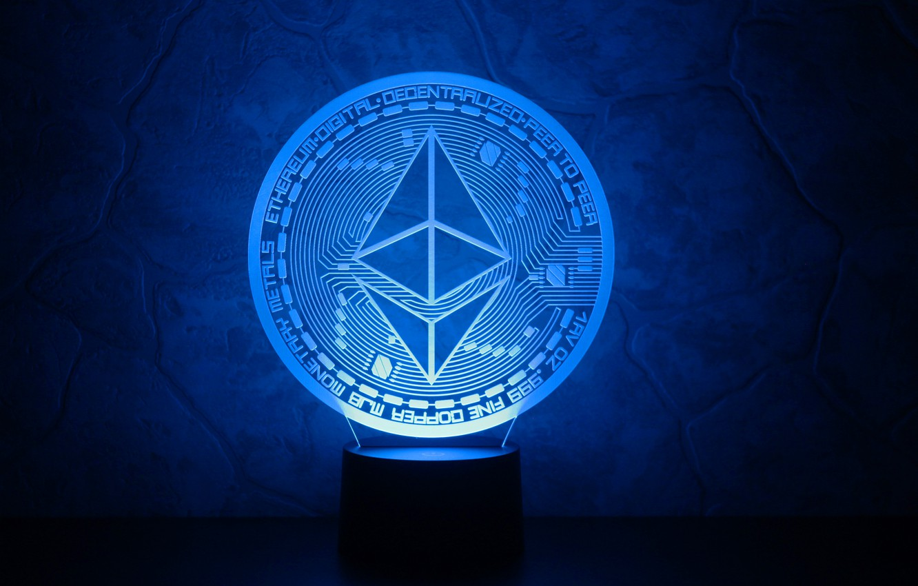 Wallpaper blue logo coin fon the air eth ethereum images for 1332x850