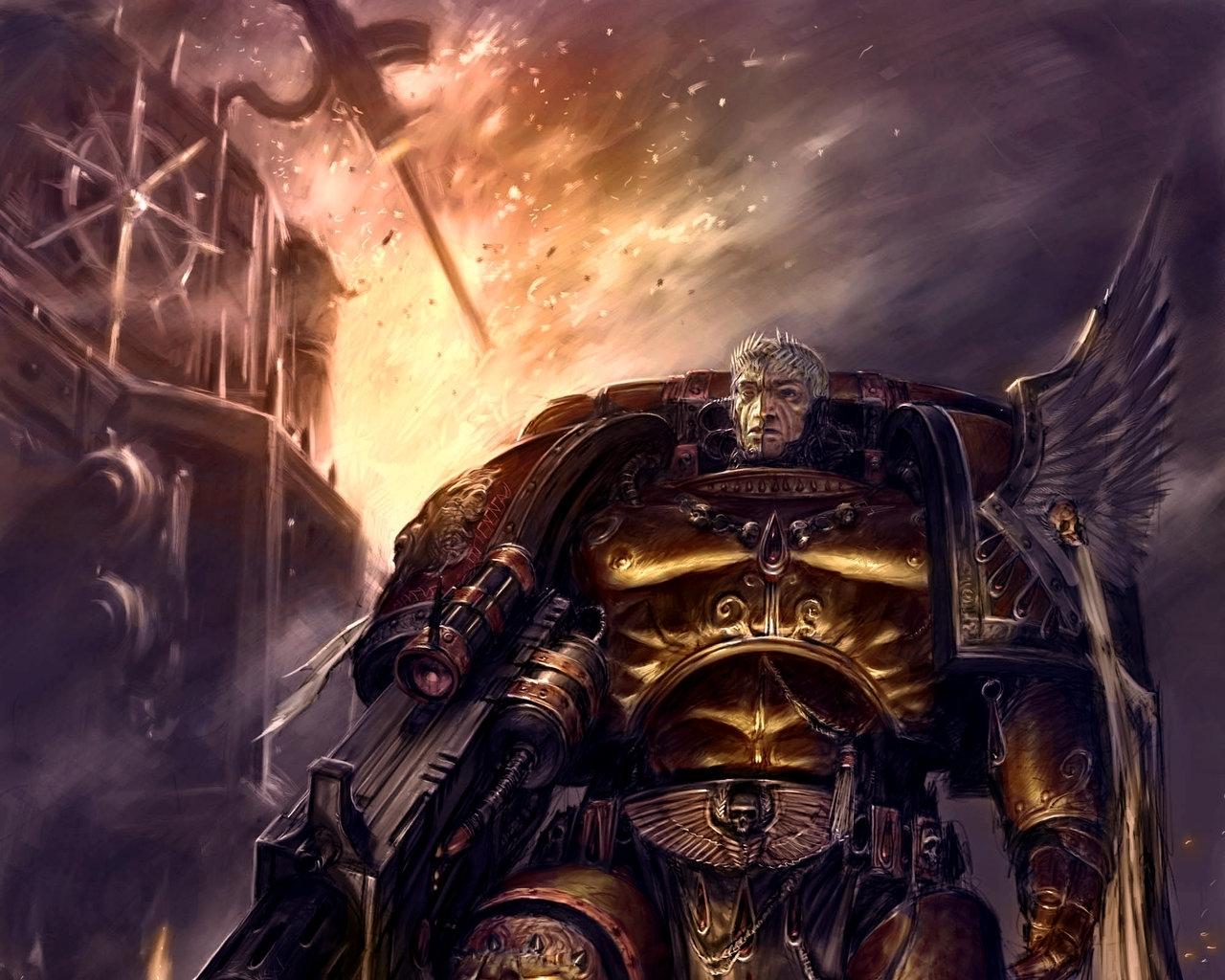 warhammer 40k space marine concept art adrian smith blood angels tycho 1280x1024
