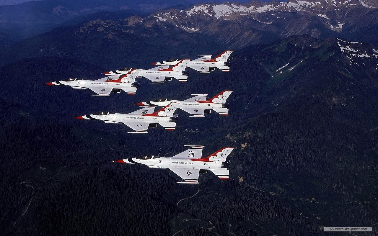 Photography wallpaper   USAF Thunderbirds wallpaper   1280x800 1280x800