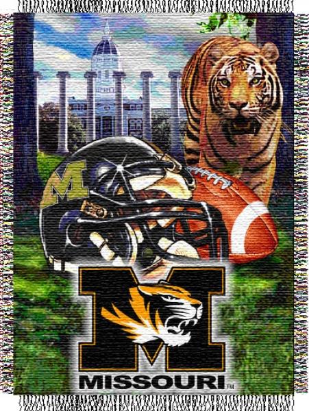 Missouri Tigers NCAA College Home Field Advantage 48x 60 Tapestry 451x600