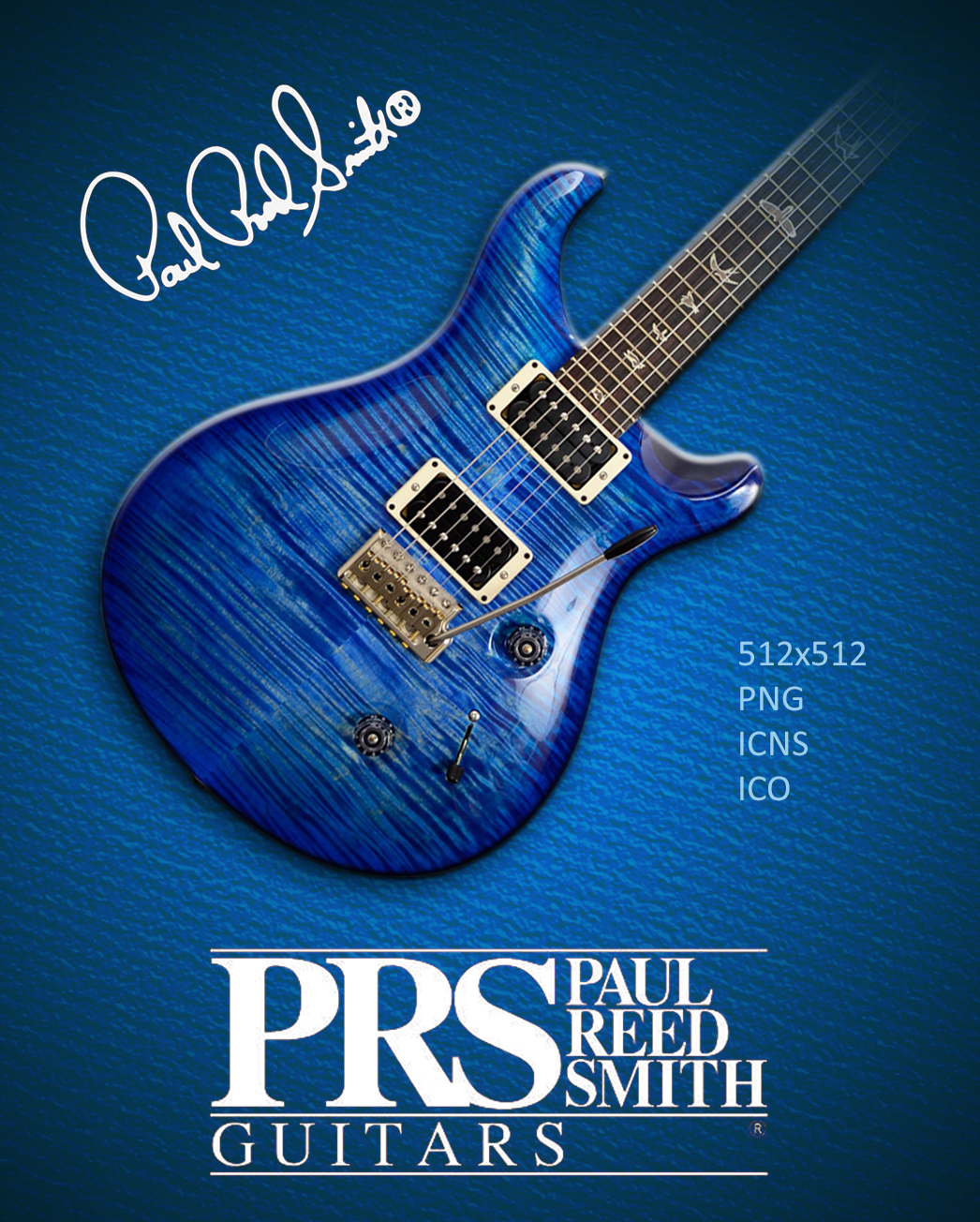 Paul Reed Smith PRS Custom 24 Faded Blue Icon by SergioRomano on 1046x1304