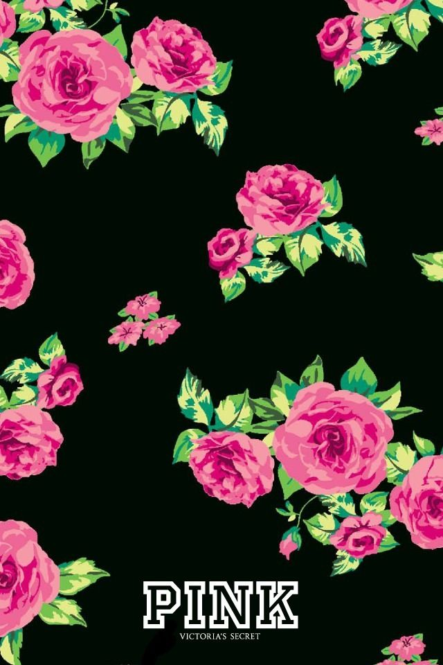 Pink Victorias Secret iPhone Wallpaper Love pink VS Pinterest 640x960