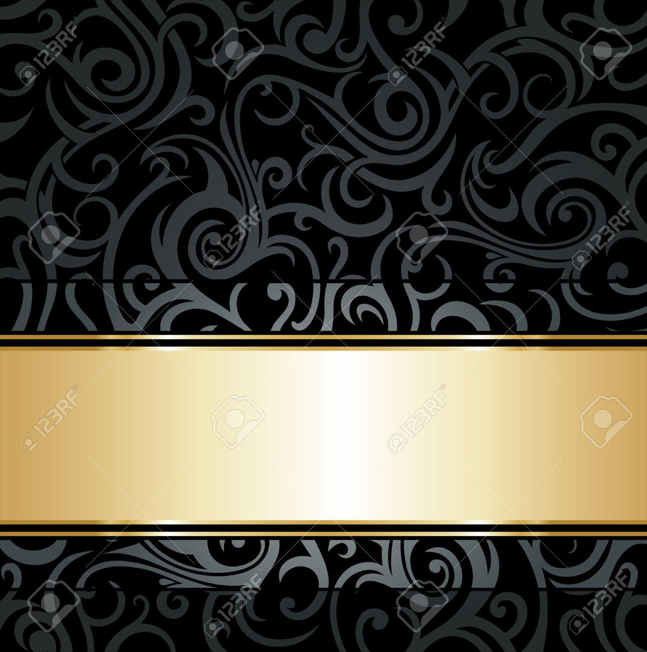 Black And Gold Vintage Wallpaper WallpaperHDCcom 1291x1300