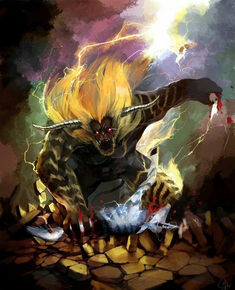 Rajang eating a Kirin Monster Hunter Universe Monster hunter 778x960