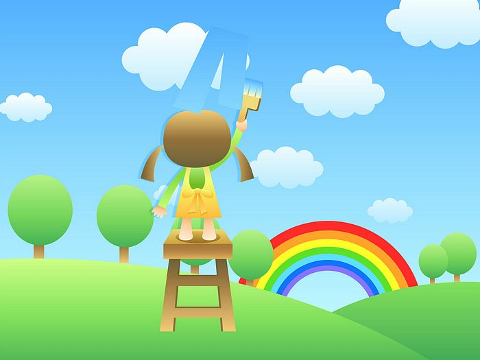 for Childrens Day   Childrens illustration   Painting the Sky21 700x525