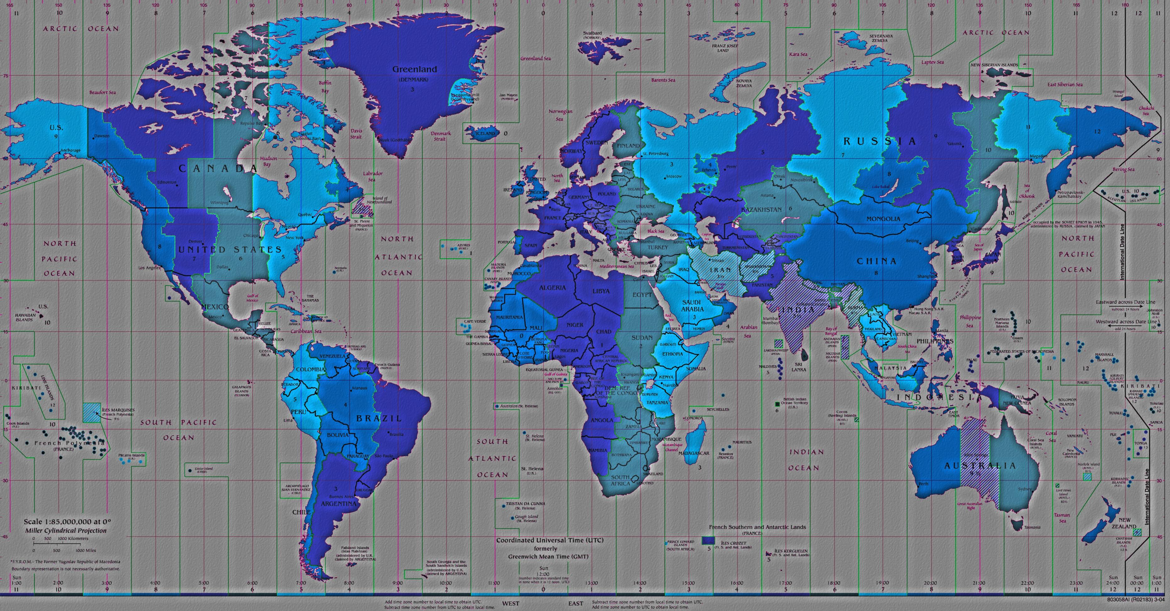 World Map Time Zones Wallpaper Wallpapersafari