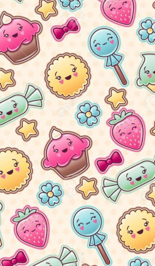 Kawaii Candy Wallpaper