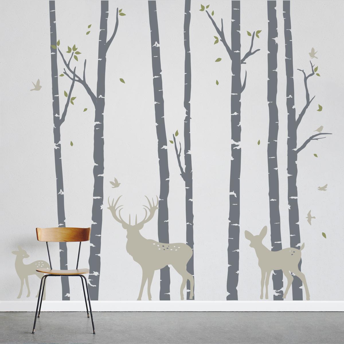 birch tree wall decals 2015   Grasscloth Wallpaper 1200x1200