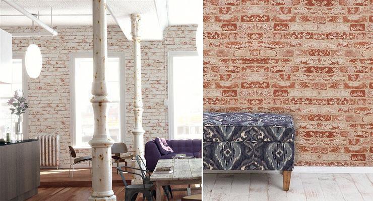 Faux Brick Removable Wallpaper Wallpapersafari