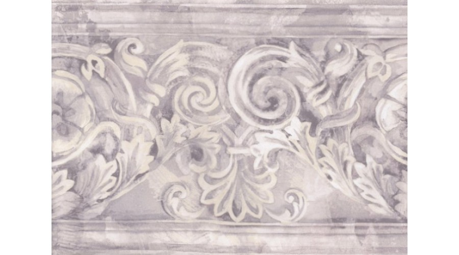 Home Grey White Stone Column Molding Wallpaper Border 900x500