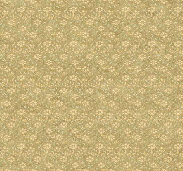 Wallpaper Designer Craftsman Style Art Nouveau Small Floral Gold Cream 640x598