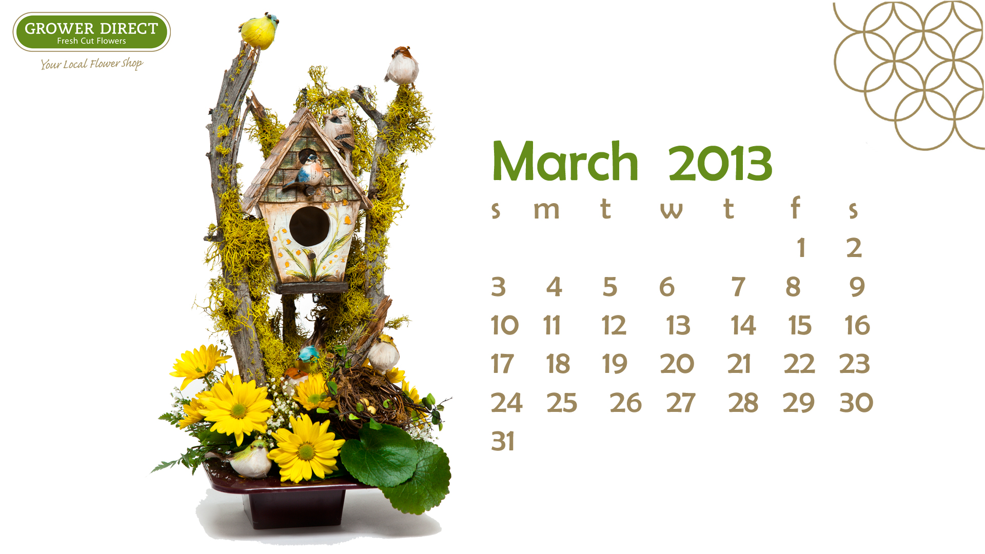 Freebie Friday March 2013 Desktop Wallpaper Calendars Grower 1920x1080