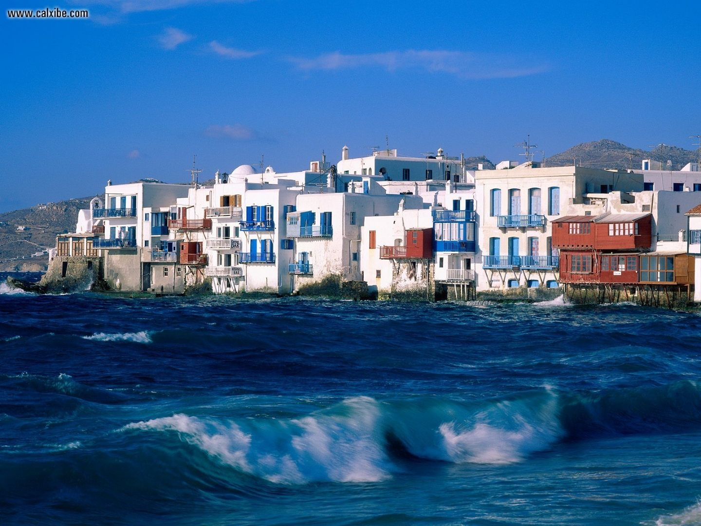 City Mykonos Cyclades Islands Greece desktop wallpaper nr 992 1440x1080