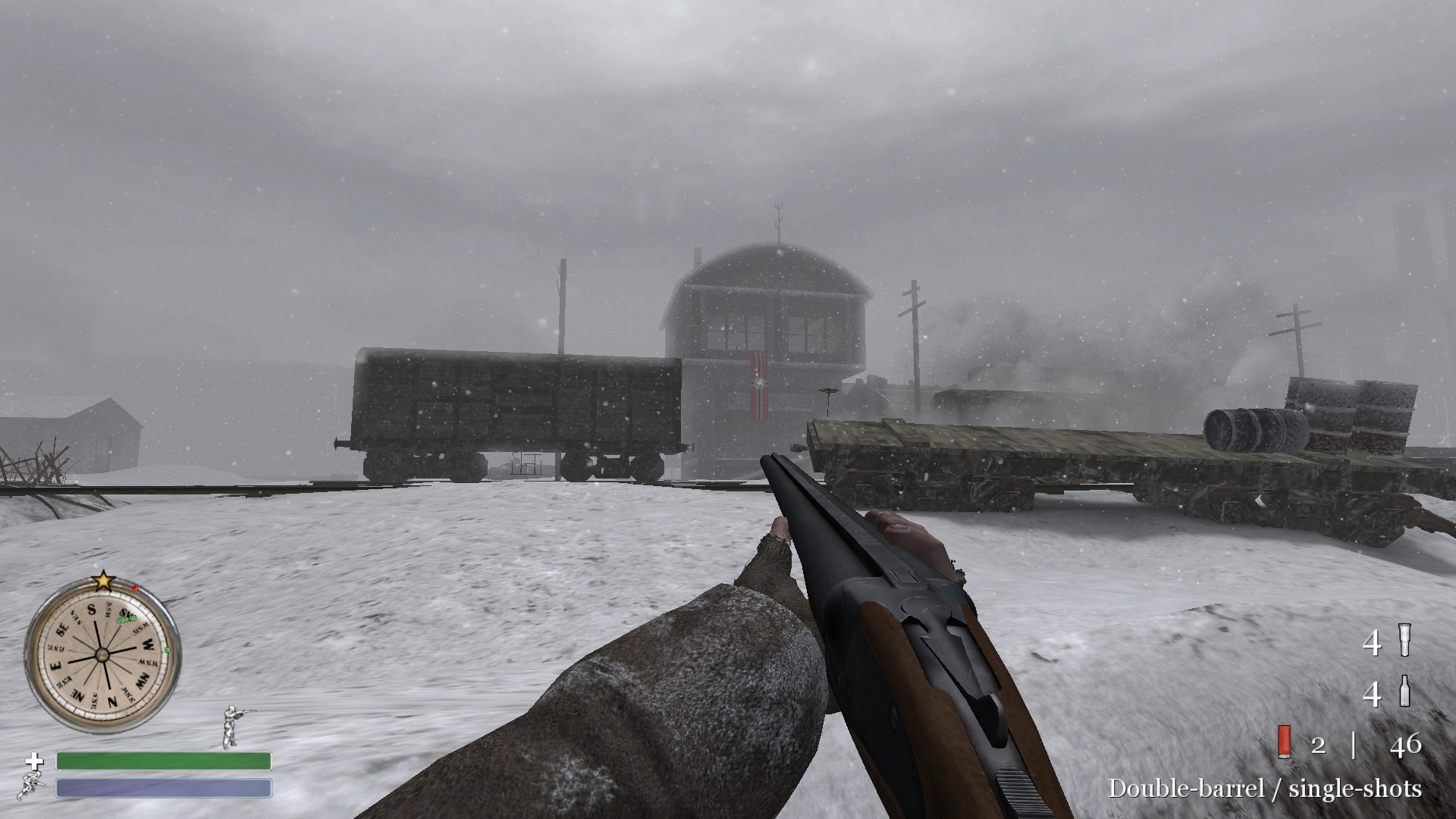 CoD2 double barreled shotgun image   Back2Fronts Mod for Call of 1920x1080