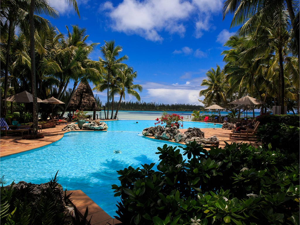 Baie dOro Isle of Pines New Caledonia Viewed from Hotel Le 1024x768