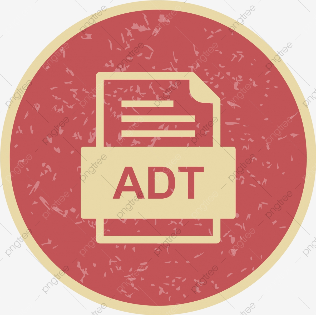 ADT File Document Icon Adt Document File PNG and Vector with 1200x1199