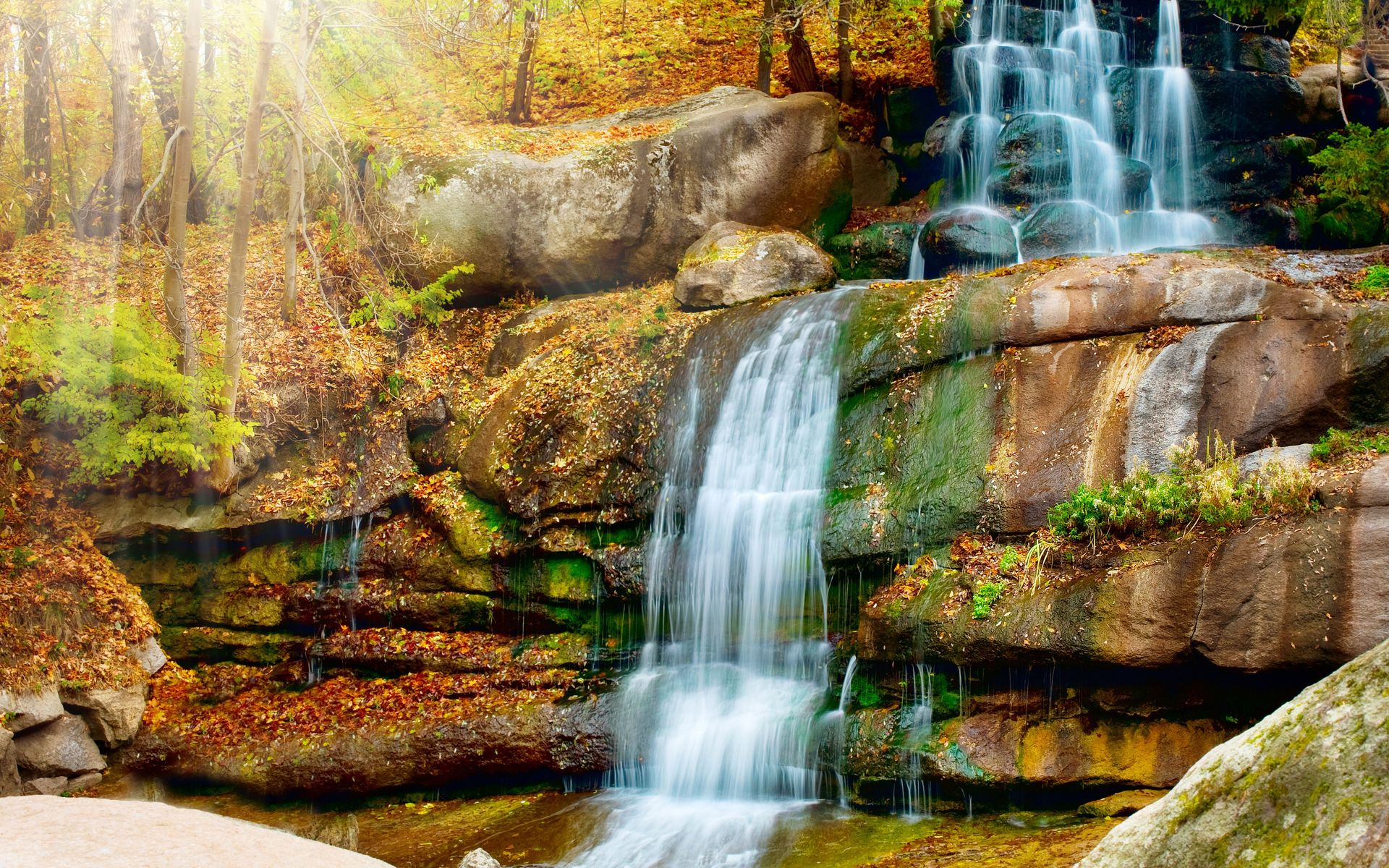 Free Wallpapers Scenery Waterfall Waterfall Cascade