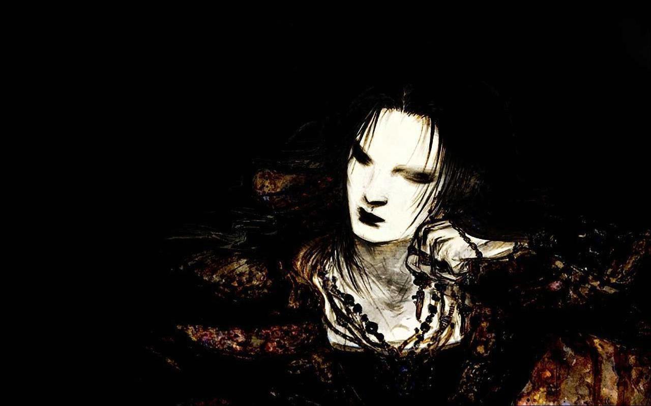 Dark Evil Girl Art Gothic Wallpaper Dark Wallpapers Gothic Girls 1280x800