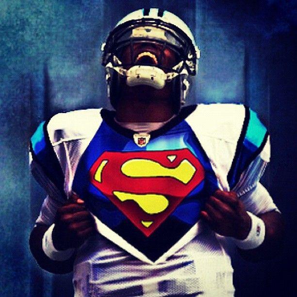 Cam Newton Superman Carolina Panthers Pinterest 612x612