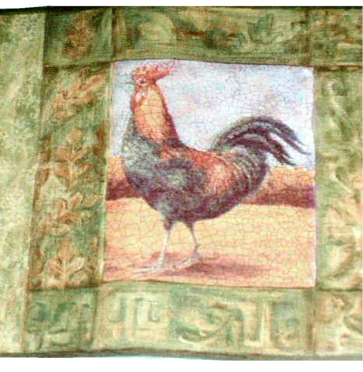 Roosters Wall Border Rooster Wallpaper Country Decor 1295 736x753