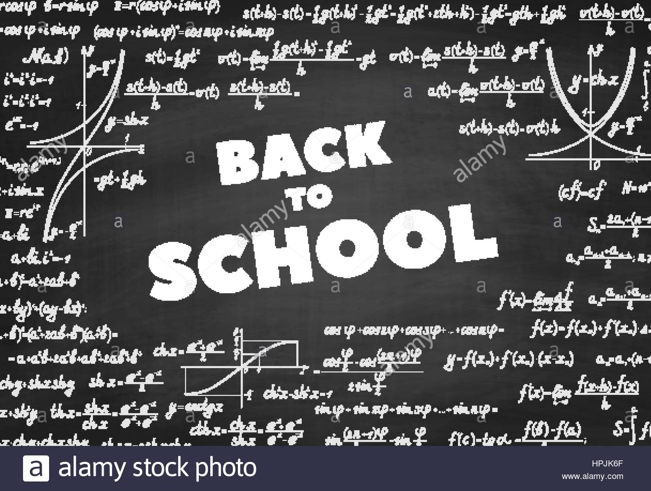 Words Back to School on blackboard Vector education background 1300x980