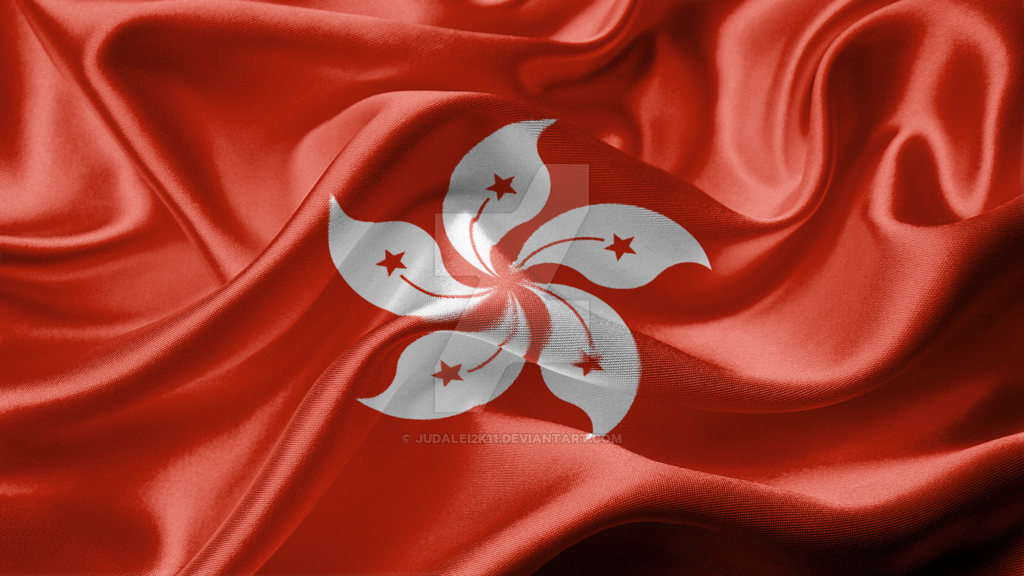 Hong Kong SAR of the PRC Realistic Flag by JuDalei2k11 on 1024x576