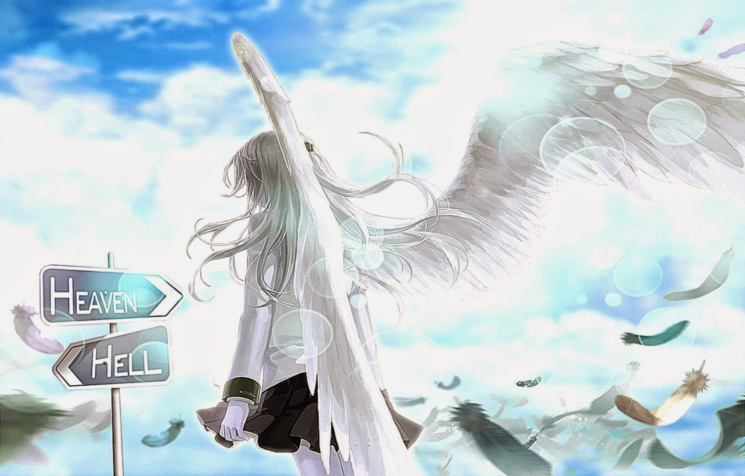 Anime Angel Wings Wallpaper 2014 Hd HD Wallpapers Desktop Background 1495x955