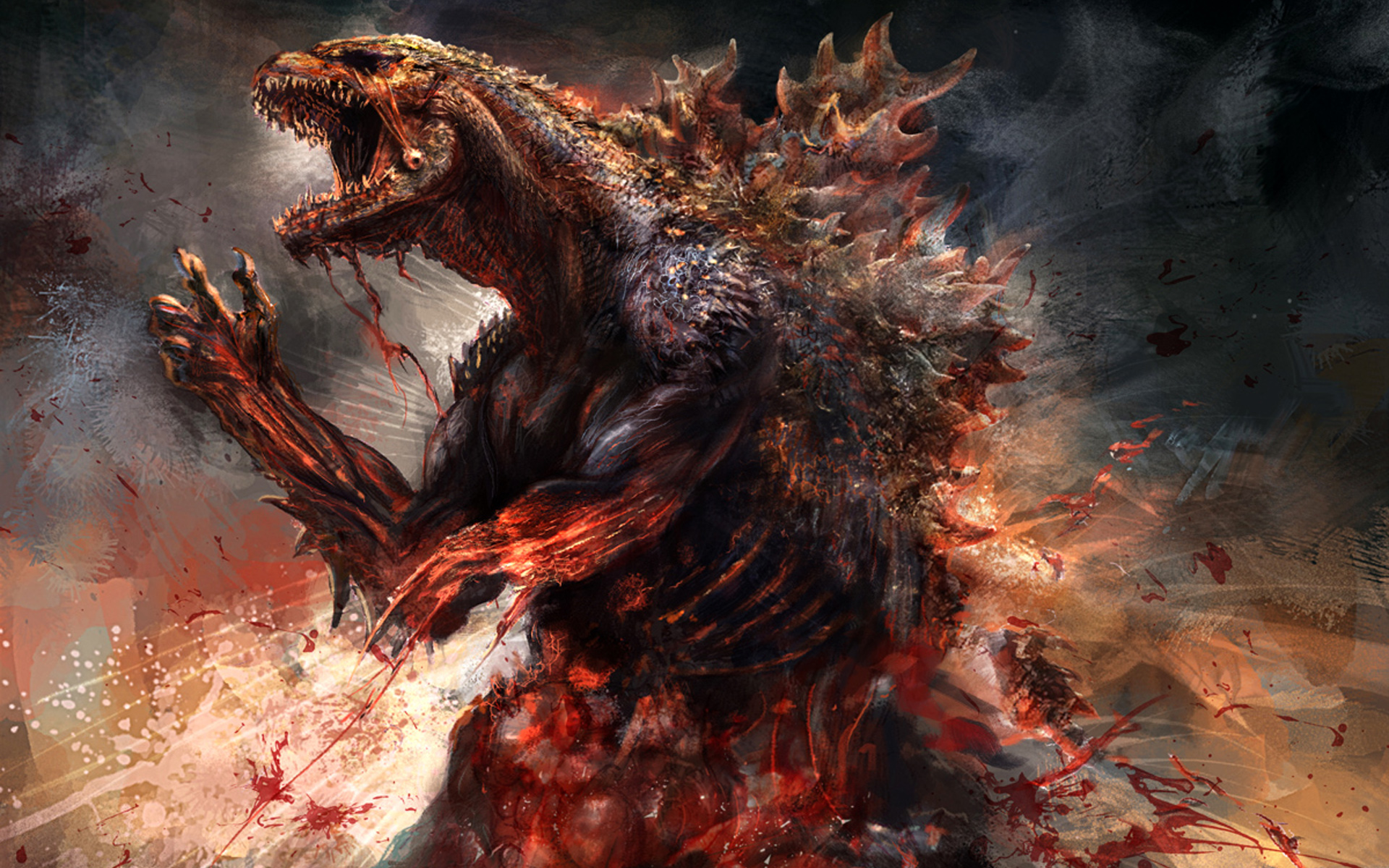 Godzilla 2014 Concept Artwork HD Wallpaper 1920x1200