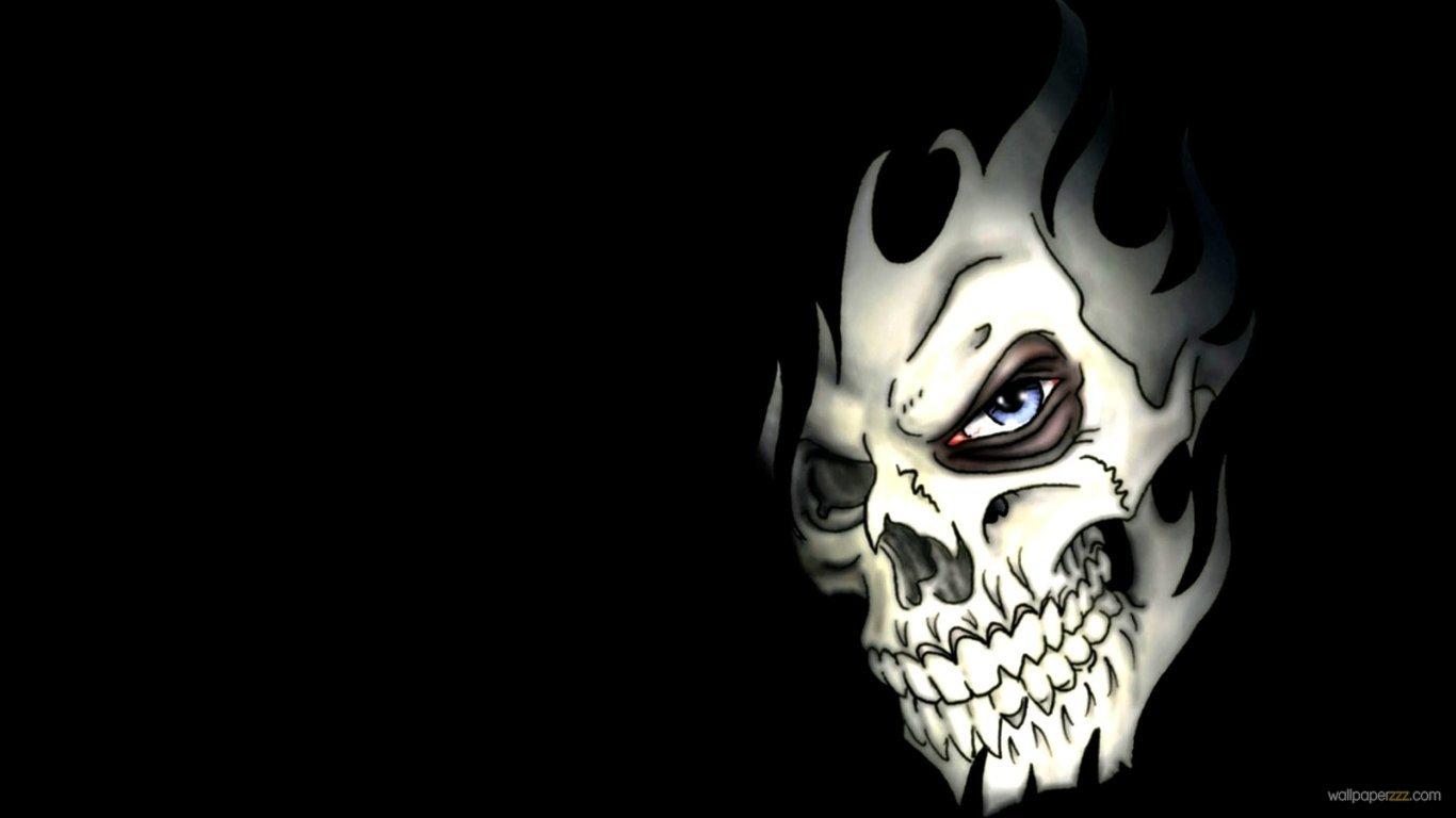 Download Nasty Skull Face HD Wallpaper 1366x768