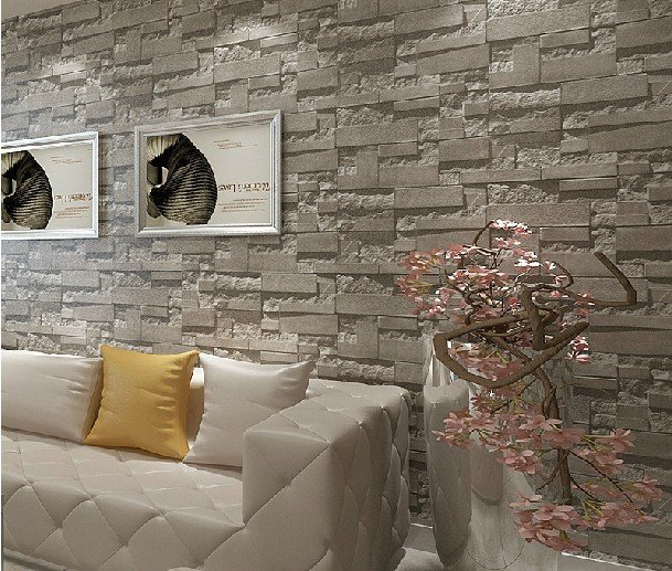 brick 3d stone wallpaper modern wallcovering pvc roll wallpaper brick 609x517