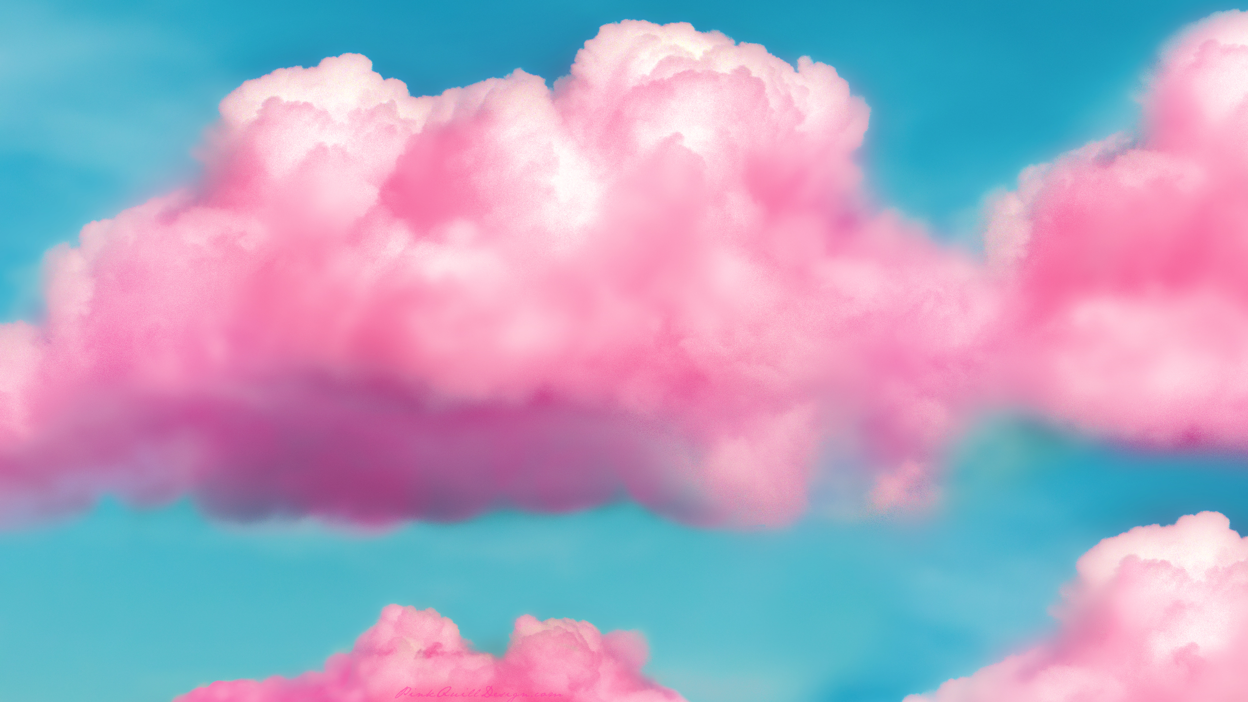 Pink Fluffy Clouds HD Wallpaper by pinkquilldesign 2560x1440