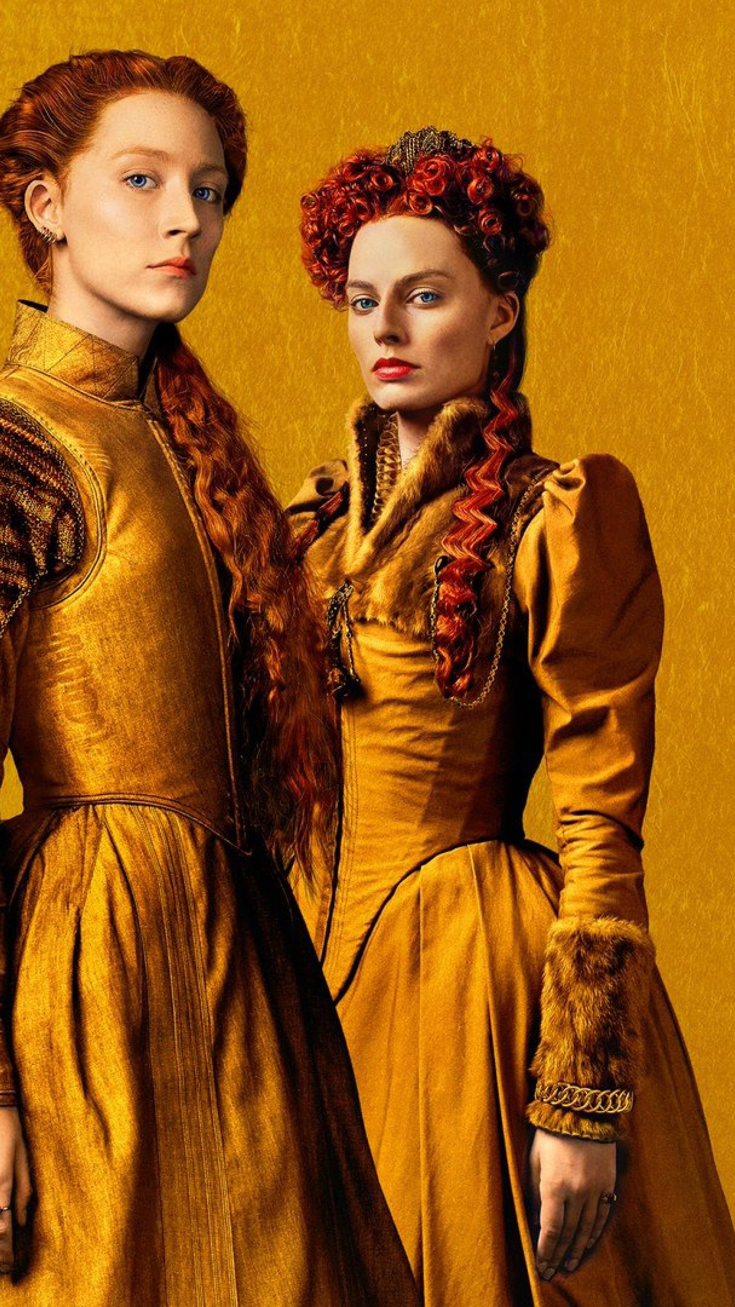 1440x2560 Margot Robbie and Saoirse Ronan in Mary Queen of Scots 1440x2560
