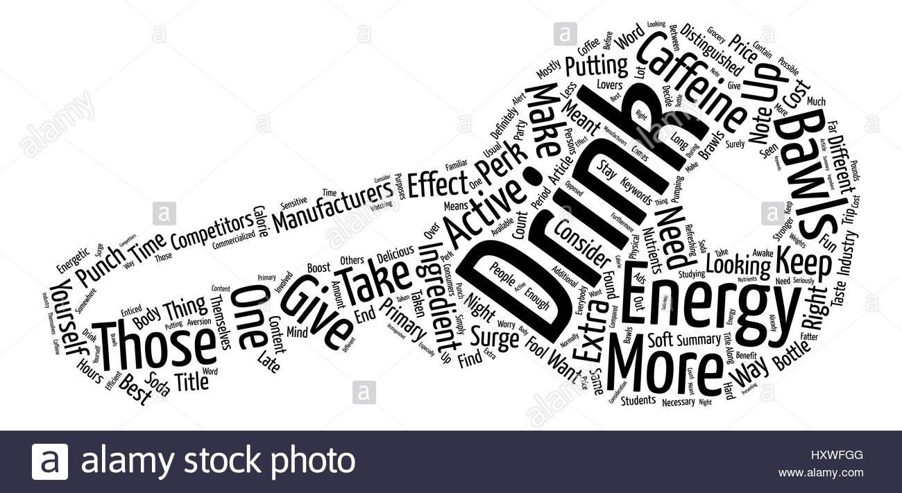 Perk Up With Bawls Energy Drink text background word cloud concept 1300x711
