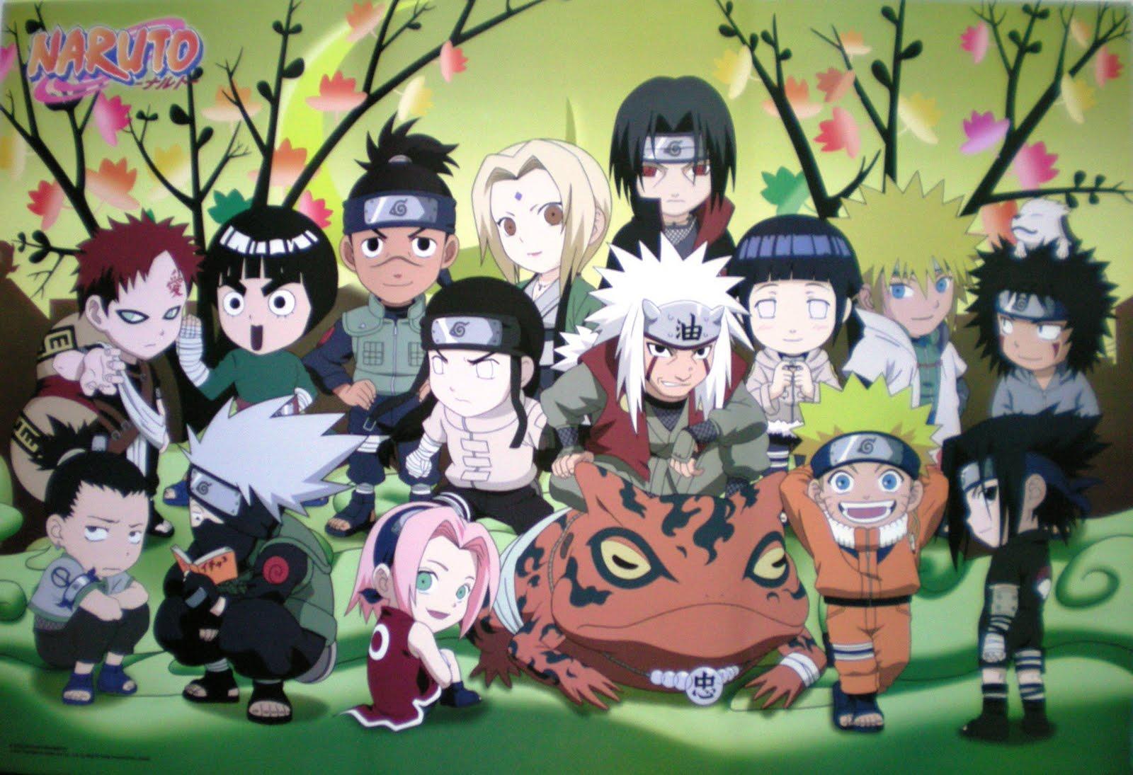 Naruto Shipuden Chibi Group Wallpaper 1600x1095
