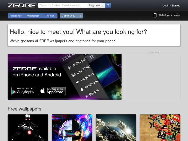 zedge themes for android free download